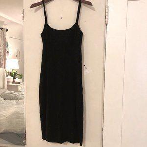 Italian Max Mara Little Black Midi Sparkle Dress
